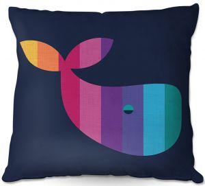Decorative Outdoor Patio Pillow Cushion | Kim Hubball - Whale Nursery