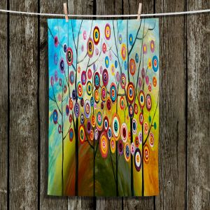 Unique Hanging Tea Towels | Lam Fuk Tim - Abstract Blossom II | Trees Nature Scapes