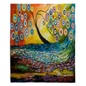 Decorative Fleece Throw Blankets | Lam Fuk Tim - Abstract Blossom III