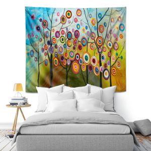 Artistic Wall Tapestry | Lam Fuk Tim Abstract Blossom II