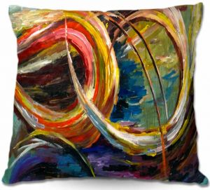 Decorative Outdoor Patio Pillow Cushion | Lam Fuk Tim - Abstract Spiral