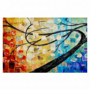 Decorative Area Rug 4 x 6 Ft from DiaNoche Designs by Lam Fuk Tim - Abstract Tree
