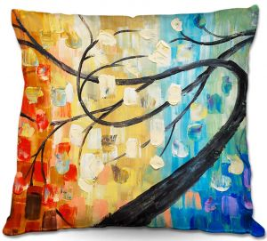Throw Pillows Decorative Artistic | Lam Fuk Tim's Abstract Tree