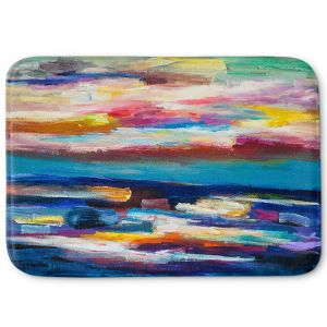 Decorative Bathroom Mats | Lam Fuk Tim - Before Sunrise 1 | abstract painterly brushstrokes