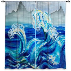 Decorative Window Treatments | Lam Fuk Tim - Blue Waves Mountains