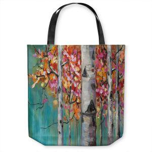 Unique Shoulder Bag Tote Bags | Lam Fuk Tim - Color Birch Tree 1 | nature landscape