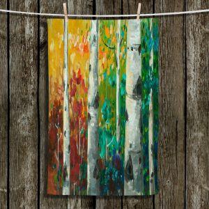Unique Bathroom Towels | Lam Fuk Tim - Color Birch Tree 3 | nature landscape