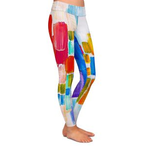 Unique Leggings Large from DiaNoche Designs by Lam Fuk Tim - Color Blocks