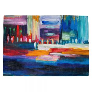 Countertop Place Mats | Lam Fuk Tim - Color City 1 | cityscape abstract brushstrokes