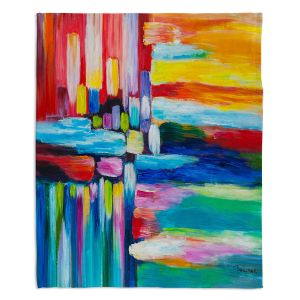Decorative Fleece Throw Blankets   Lam Fuk Tim - Color Stripes 4   abstract line pattern