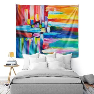 Artistic Wall Tapestry | Lam Fuk Tim - Color Stripes 4 | abstract line pattern
