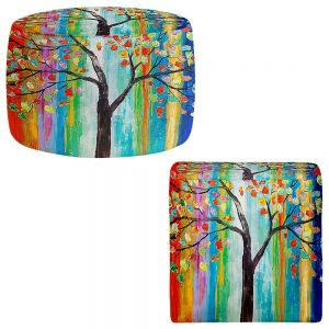 Round and Square Ottoman Foot Stools | Lam Fuk Tim - Color Tree
