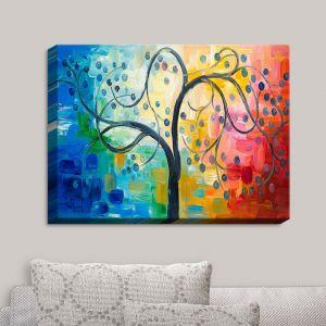 Decorative Canvas Wall Art | Lam Fuk Tim - Color Tree II | Whimsical Trees Colorful