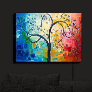 Nightlight Sconce Canvas Light | Lam Fuk Tim - Color Tree II | Whimsical Trees Colorful