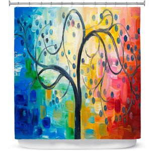 Unique Shower Curtain from DiaNoche Designs by Lam Fuk Tim - Color Tree II