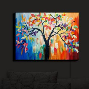 Nightlight Sconce Canvas Light | Lam Fuk Tim - Color Tree III | Whimsical Trees Colorful