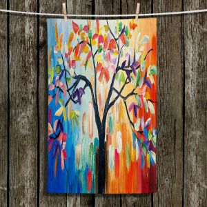 Unique Hanging Tea Towels | Lam Fuk Tim - Colorful Tree lll | Whimsical Trees Colorful