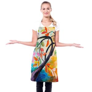 Artistic Bakers Aprons | Lam Fuk Tim - Color Tree IV | Whimsical Trees Colorful