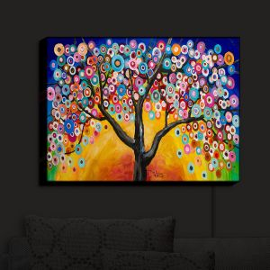 Nightlight Sconce Canvas Light | Lam Fuk Tim - Color Tree V | Whimsical Trees Colorful