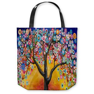 Unique Shoulder Bag Tote Bags |Lam Fuk Tim - Colorful Tree V