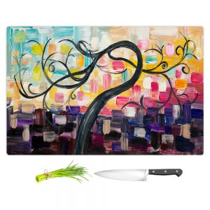 Artistic Kitchen Bar Cutting Boards | Lam Fuk Tim - Colorful Tree Vl