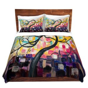 Artistic Duvet Covers and Shams Bedding | Lam Fuk Tim - Colorful Tree Vl