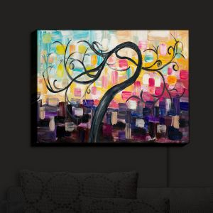 Nightlight Sconce Canvas Light | Lam Fuk Tim - Color Tree VI | Whimsical Trees Colorful