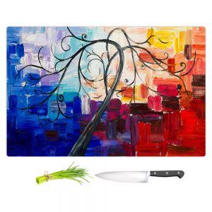 Artistic Kitchen Bar Cutting Boards   Lam Fuk Tim - Colorful Tree Vll