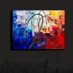Nightlight Sconce Canvas Light | Lam Fuk Tim - Color Tree VII | Whimsical Trees Colorful