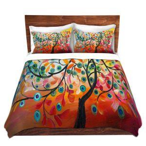 Artistic Duvet Covers and Shams Bedding | Lam Fuk Tim - Colorful Tree Vlll