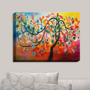 Decorative Canvas Wall Art | Lam Fuk Tim - Color Tree VIII | Whimsical Trees Colorful
