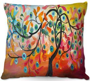 Decorative Outdoor Patio Pillow Cushion | Lam Fuk Tim - Colorful Tree Vlll