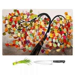 Artistic Kitchen Bar Cutting Boards   Lam Fuk Tim - Colorful Tree IX