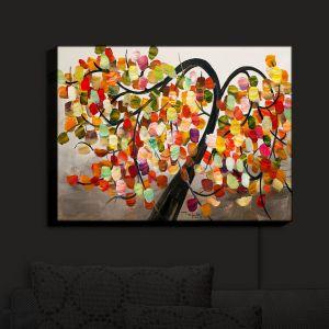 Nightlight Sconce Canvas Light | Lam Fuk Tim - Color Tree IX | Whimsical Trees Colorful