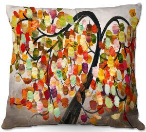 Decorative Outdoor Patio Pillow Cushion | Lam Fuk Tim - Colorful Tree IX