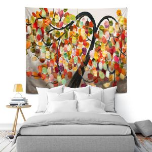 Artistic Wall Tapestry | Lam Fuk Tim - Colorful Tree IX
