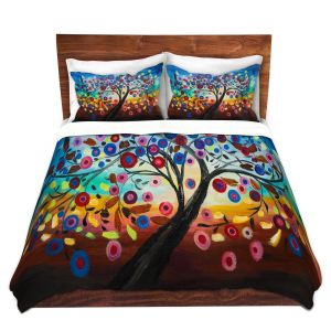 Artistic Duvet Covers and Shams Bedding | Lam Fuk Tim - Color Tree XIII | surreal nature