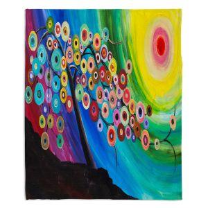 Decorative Fleece Throw Blankets | Lam Fuk Tim - Color Tree XVI | surreal nature sun