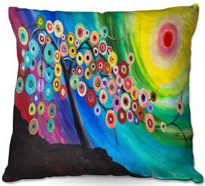 Decorative Outdoor Patio Pillow Cushion   Lam Fuk Tim - Color Tree XVI   surreal nature sun