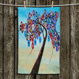 Unique Hanging Tea Towels   Lam Fuk Tim - Color Tree XVII   surreal nature
