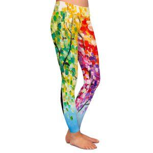 Casual Comfortable Leggings | Lam Fuk Tim - Colorful Trees lll