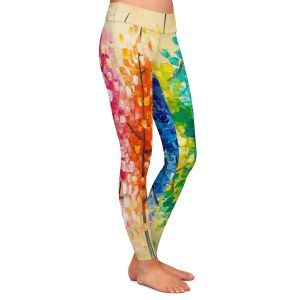Casual Comfortable Leggings | Lam Fuk Tim - Colorful Trees IV