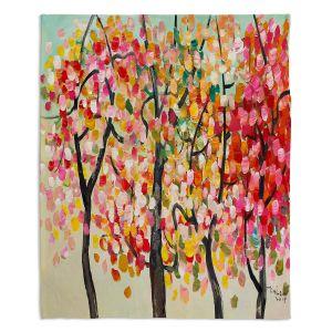 Decorative Fleece Throw Blankets | Lam Fuk Tim - Colorful Trees V