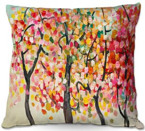 Unique Throw Pillows from DiaNoche Designs by Lam Fuk Tim - Colorful Trees V   18X18