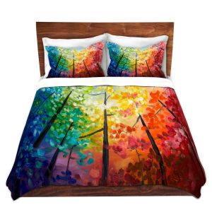 Artistic Duvet Covers and Shams Bedding | Lam Fuk Tim - Colorful Trees VI