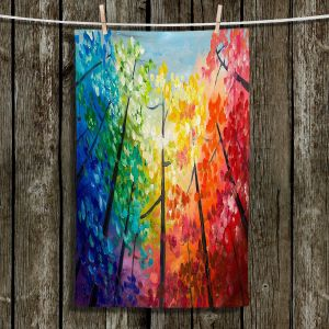 Unique Bathroom Towels   Lam Fuk Tim - Colorful Trees VI