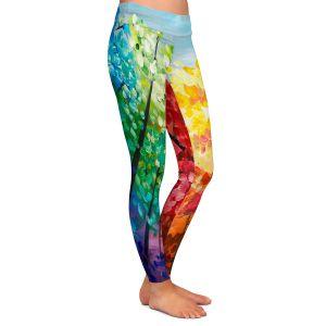 Casual Comfortable Leggings | Lam Fuk Tim - Colorful Trees VI