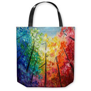 Unique Shoulder Bag Tote Bags |Lam Fuk Tim - Colorful Trees VI