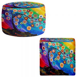 Round and Square Ottoman Foot Stools | Lam Fuk Tim - Full of Fruits
