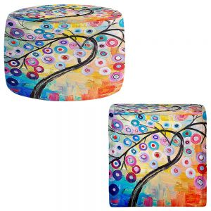 Round and Square Ottoman Foot Stools | Lam Fuk Tim - Happy Tree